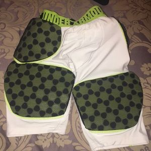 Under Armour padded football shorts